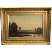 A Hudson River School Landscape Oil Painting