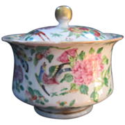 A 19th Century Rose Famille Covered Sugar Bowl