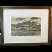 A Vintage American Western Landscape Photograph