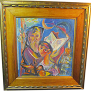 SOLD A  Judaic Painting by the Modernist John Shayn (1901-1977)