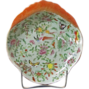 A 19th Century Chinese Export Porcelain Shrimp Dish with Celadon Ground