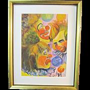 A Vintage 20th Century American Clown Study Watercolor