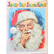 A Vintage Illustrated Santa Claus Book Published by Ideals Publishing Company in 1958