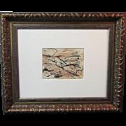 A Mid-Century Monhegan Island Abstract Drawing by Elizabeth Erlanger (1901-1975)
