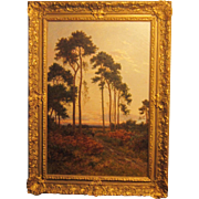 A 19th Century British Barbizon Style Landscape by Daniel Sherrin (1865-1904)