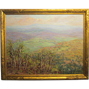 A 20th Century American Impressionist Cragsmoor, New York View by Carroll B. Brown (1860-1932)