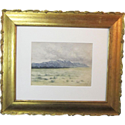 A 19th Century Watercolor of Pike's Peak from Pueblo, Colorado