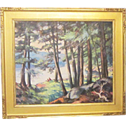 An Early 20th Century Post-Impressionist Landscape by Elizabeth Reynolds