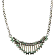 Jakob Bengel enamel and chrome necklace, 1930s