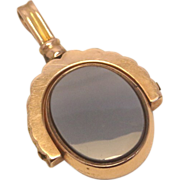SALE Victorian 10k bloodstone and agate spinner fob