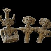 Charming 19th Century Cast Bronze Tribal Sculpture