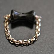 Roman Style Black Onyx Finger Ring