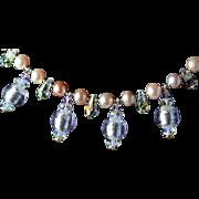 Renaissance Style Venetian Glass  Necklace
