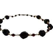 Garnet Necklace with Vermeil and Gold filled