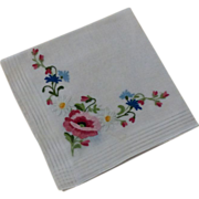 Hankie Tambour Stitching Embroidery Perfect