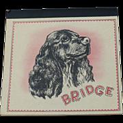 Bridge Tally Book  ~ Cocker Spaniel Cover