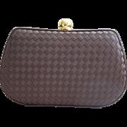 Brown Silk Neiman Marcus Handbag Purse  Unused