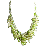 Hobe Cha Cha Necklace 1950s ~ Citrine Green ~ Fabulous