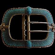 Egyptian Revival Plique a Jour Belt Buckle Scarab Beetle