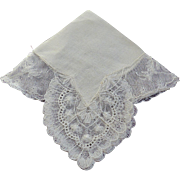 Hankie Bridal Cream Color Mint Dramatic Corners