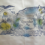 World War I Silk Sweetheart Hankie Scarf