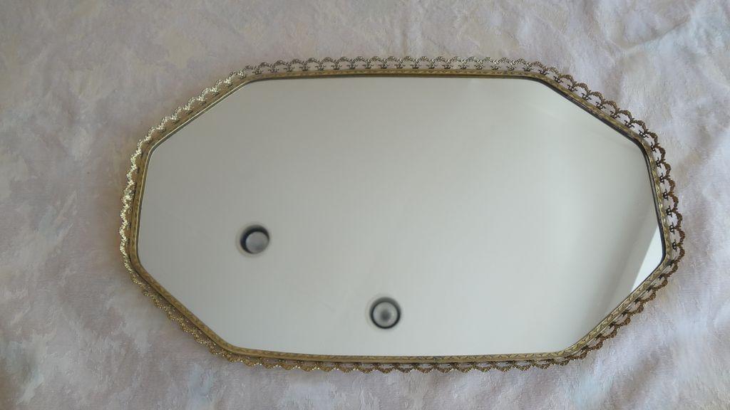 Beautiful Vanity Dresser Mirror Tray.