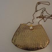 Vintage Gold Lame Handbag La Ragale MINT