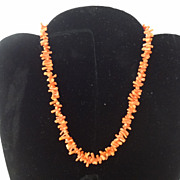 Vintage Coral Branch Choker Necklace
