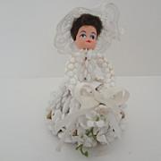 Bridal Decoration of Bride Beaded Dress, Veil, Bouquet