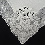 Vintage Lace Bridal Wedding Hankie BEAUTIFUL