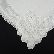 SOLD Magnificent Bridal Hankie Detailed Lace