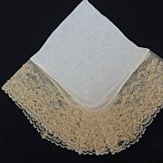 Vintage Pocket Hankie Silk and Lace