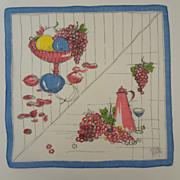 Hankie Kitchen Design Grapes Wine & Fruit Bowl