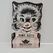 SALE PENDING Kitty Cat Dime Holder Bank Advertising