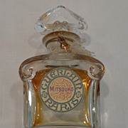 Vintage Marked Baccarat Perfume Bottle For Guerlain Mitsouko