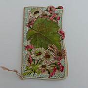 Early 1900's New Years Greeting Die cut Front ~ Verse Inside