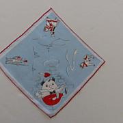 SOLD Hankie Handkerchief Childs Humpty Dumpty Ex Cond