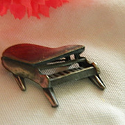 Cute Pewter Piano Brooch ~ Hand Wrought