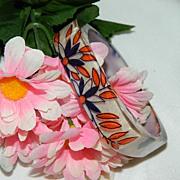 SALE Darling Floral Lucite Modernist Bracelet