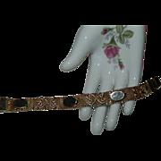 "SALE Beautiful ""Goldette"" Signed Mesh Bracelet ~ Gold Tone"