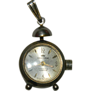 SALE Antique Heritage Alarm Clock Style Pendant Watch ~ Swiss Made