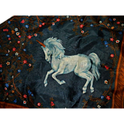 Vintage Avon Fantasy Unicorn Scarf ~ Made in Italy