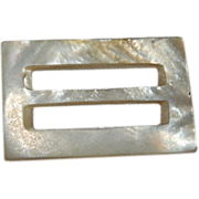 Art Deco Mother of Pearl Belt Buckle