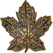 "SALE Vintage ""Keyes"" Designer Maple Leaf Brooch"