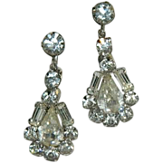 SOLD High End Hollywood Glam! Brilliant Rhinestone Drop Earrings