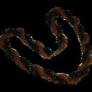 "SALE Gorgeous Gold Black Seed Bead Torsade ~ 19"""