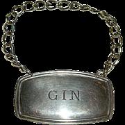 SALE English Silver Gin Bottle Label