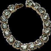 SALE Big Bling Huge Glass Rhinestone Tennis Bracelet