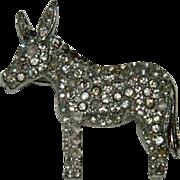 SALE Diamante Figural Donkey Brooch ~ Democrats Take a Look!