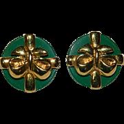 SALE Super Rare!! Ginnie Johansen Enameled Christmas Gift Earrings!